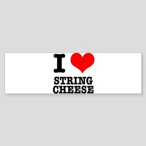 I Heart (Love) String Cheese Sticker (Bumper)