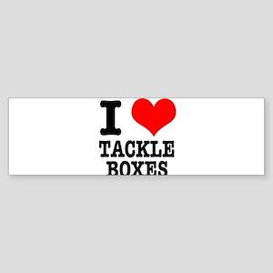 I Heart (Love) Tackle Boxes Sticker (Bumper)