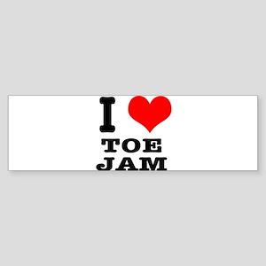 I Heart (Love) Toe Jam Sticker (Bumper)