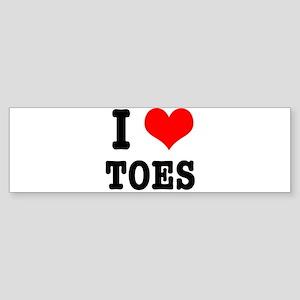 I Heart (Love) Toes Sticker (Bumper)