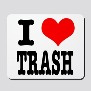 I Heart (Love) Trash Mousepad