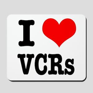 I Heart (Love) VCRs Mousepad
