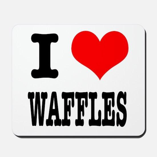I Heart (Love) Waffles Mousepad
