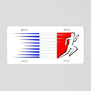 Athletics Runner - France Aluminum License Plate