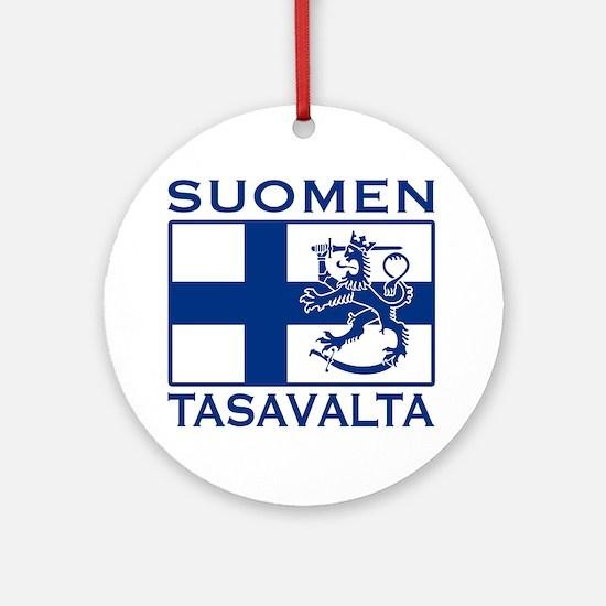 Suomen Tasavalta Ornament (Round)