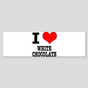 I Heart (Love) White Chocolat Sticker (Bumper)