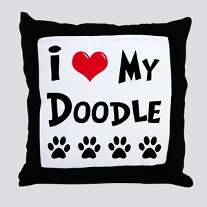 My Dog Rulez! Throw Pillow