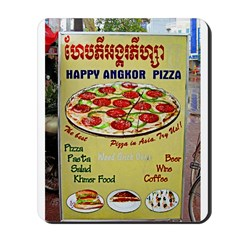 Happy Pizza Sign Mousepad