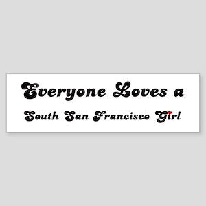 Loves South San Francisco Gir Bumper Sticker