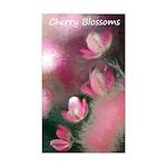 Cherry Tree Blossom Sticker (Rectangle)