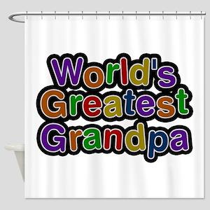 World's Greatest Grandpa Shower Curtain