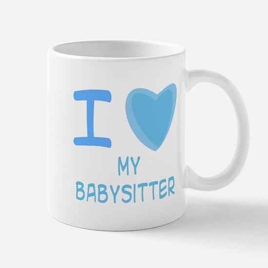 Blue I Heart (Love) My Babysi Mug