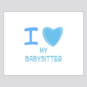 Blue I Heart (Love) My Babysi Small Poster