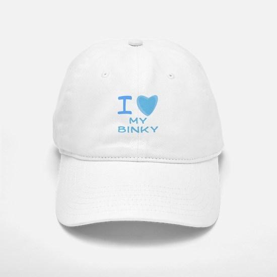 Blue I Heart (Love) My Binkie Baseball Baseball Cap