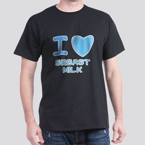 Blue I Heart (Love) Breast Mi Dark T-Shirt