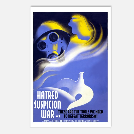 Hatred Suspicion War Postcards (8 Pack)