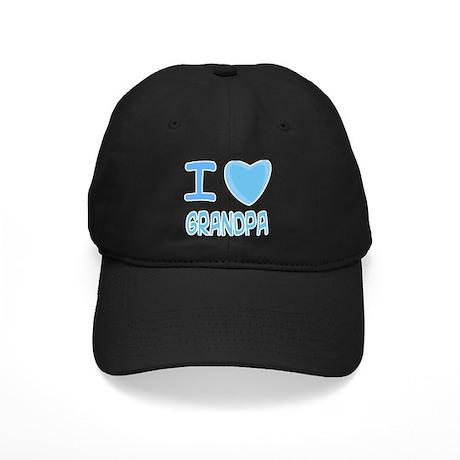 I Heart (Love) Grandpa Black Cap