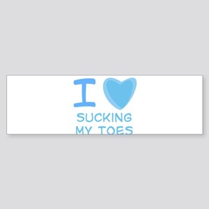 I Heart (Love) Sucking My Toe Sticker (Bumper)
