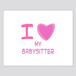 Pink I Heart (Love) My Babysi Small Poster
