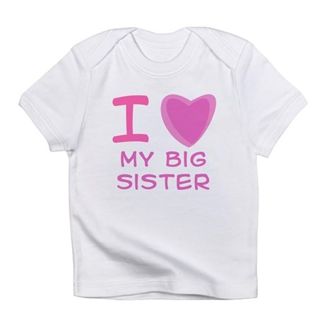 Pink I Heart (Love) My Big Si Infant T-Shirt