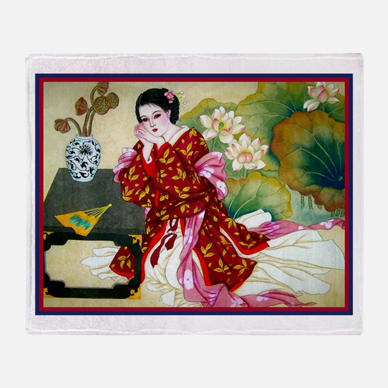Cute Chinese Throw Blanket