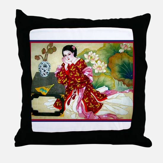 Cute Japanese Throw Pillow