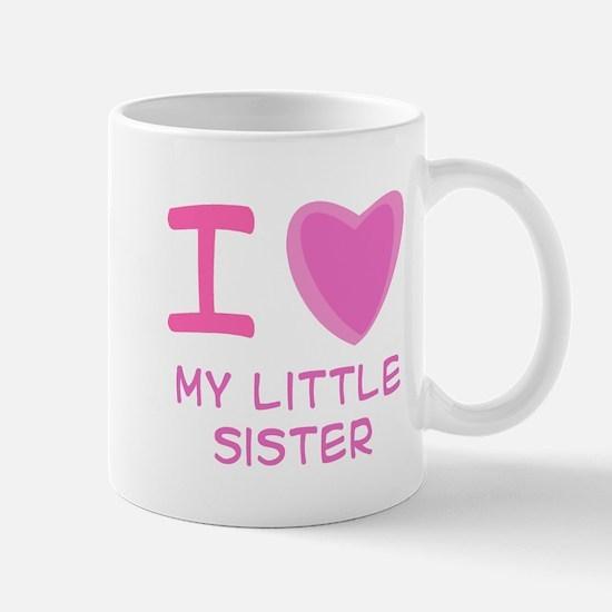 Pink I Heart (Love) My Little Mug