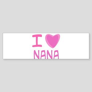 Pink I Heart (Love) Nana Sticker (Bumper)