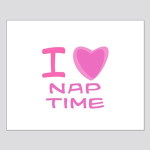 Pink I Heart (Love) Nap Time Small Poster