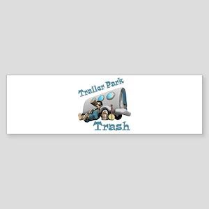 Trailer Park Trash Design Sticker (Bumper)