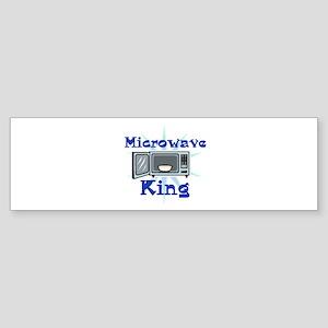 Microwave King Design Sticker (Bumper)