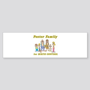 Poster Family for Birth Contr Sticker (Bumper)