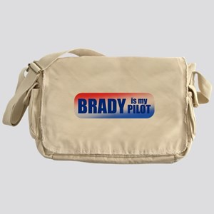Brady Is My Pilot Messenger Bag
