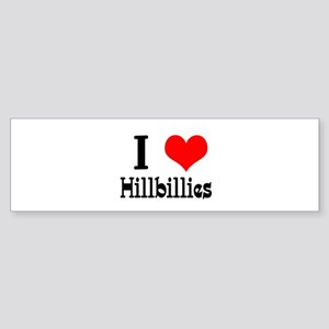 I Heart (Love) Hillbillies Sticker (Bumper)