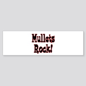 Mullets Rock! Design Sticker (Bumper)