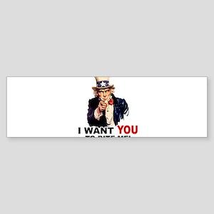 Want You To Bite Me Sticker (Bumper)