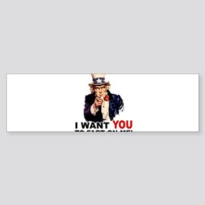 Want You to Fart On Me Sticker (Bumper)