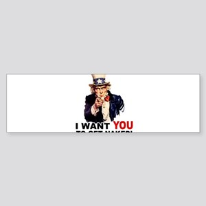 Want You To Get Naked Sticker (Bumper)