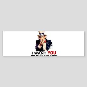 Want You to Kiss My Ass Sticker (Bumper)