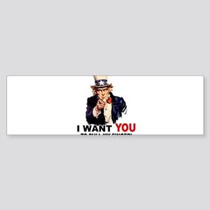 Want You To Pull My Finger Sticker (Bumper)