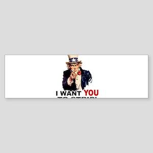 Want You to Strip Sticker (Bumper)