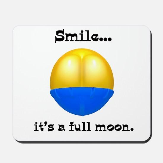 Full Moon Smile Butt Crack Mousepad