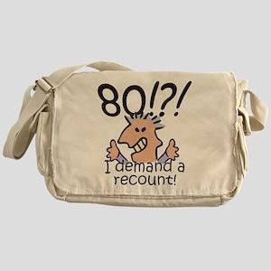 Recount 80th Birthday Messenger Bag