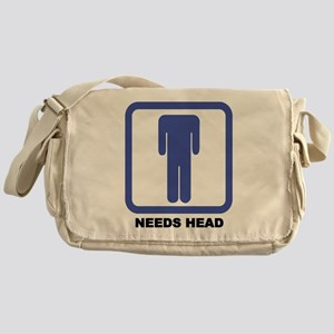 Needs Head Messenger Bag