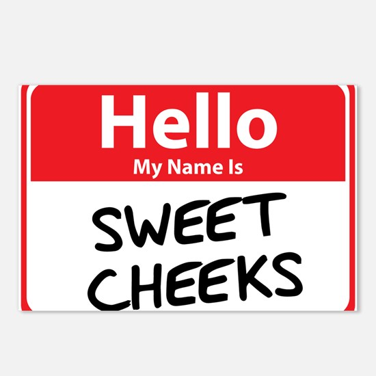 Hello My Name is Sweet Cheeks Postcards (Package o
