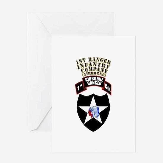 SOF - 1st Ranger Infantry Co - Abn Greeting Card