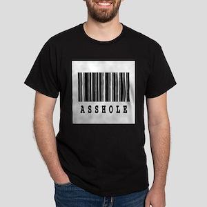 Asshole Barcode Design Dark T-Shirt