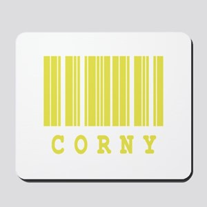 Corny Barcode Design Mousepad