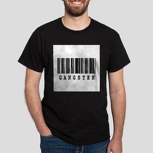 Gangster Barcode Design Dark T-Shirt