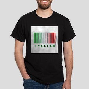 Italian Barcode Design Dark T-Shirt
